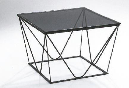 Hasse Couchtisch 7535 - Gestell schwarz - versch. Ausf. Tischplatte
