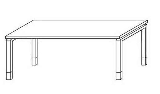 Röhr-Bush - Techno 019 - Schreibtisch mit Rechteckplatte - Breite 120 cm