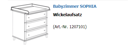 Paidi Wickelaufsatz schmal Sophia 1207101
