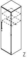 Röhr-Bush - Techno 019 - Garderobenelement - Kleiderschrank 1-türig rechts