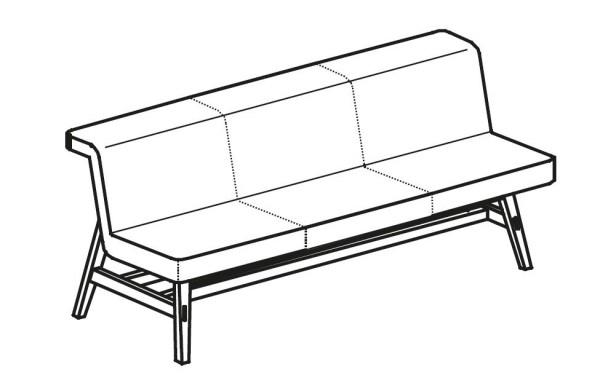 voglauer v solid sitzbank gepolstert mit fu 140 cm. Black Bedroom Furniture Sets. Home Design Ideas