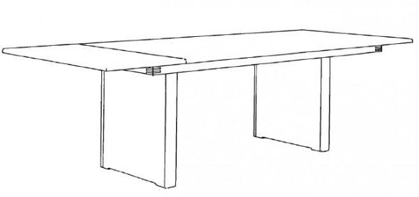 Decker-Möbelwerke - Volterra Plus - Wangentisch - Länge 180 cm