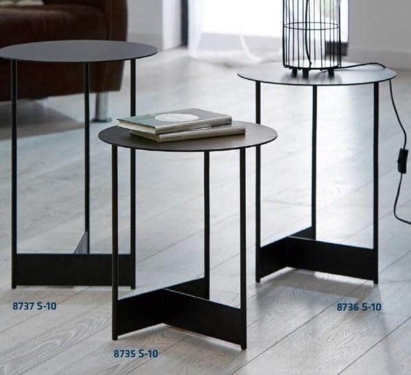 Hasse Beistell-Tisch Modell 8735/8736/8737 - in Effect-Finish Rost oder Schwarz