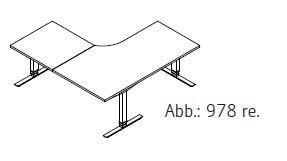Röhr-Bush - Techno 019 - Kombischreibtisch mit Freiformplatte - elektrisch höhenverstellbar - 180 cm