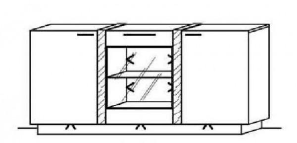 Schröder Kitzalm Alpin - Sideboard - Nr. 3789 Blende Almschroppung
