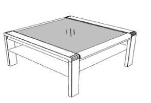 Decker-Möbelwerke - Vigo - Couchtisch mit Glasplatte - Breite 95 cm