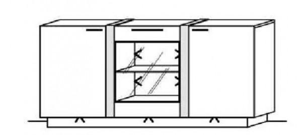Schröder Kitzalm Alpin - Sideboard - Nr. 3739 Blende Aluminium