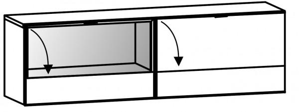 Voglauer V-Cube - Hängeelement 160/48 mit Vitrinenteil - CHE16E