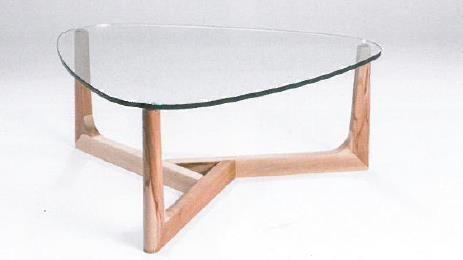 Hasse Glas-Couchtisch Modell 7156 - Platte Klar- oder Bronzeglas