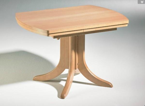 Hasse Holz-Couchtisch-Modell 1071- Platte ausziehbar + höhenverstellbar