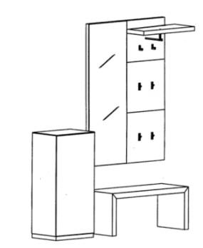 Bienenmühle - Cade - Garderoben Set 10