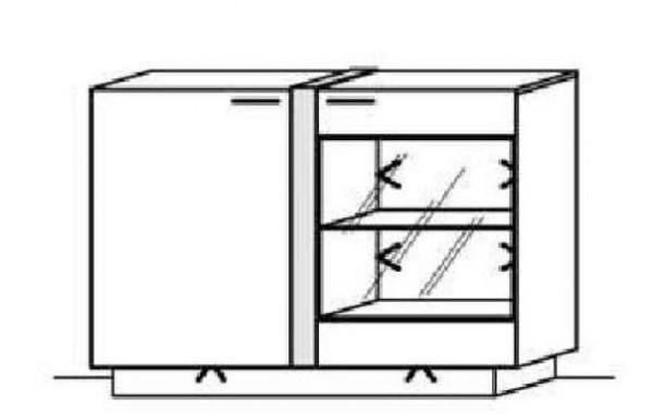 Schröder Kitzalm Alpin - Sideboard - Nr. 3639 Blende Aluminium