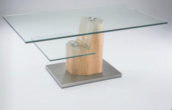 Hasse Glas-Couchtisch Modell 7125 mit Ablageplatte