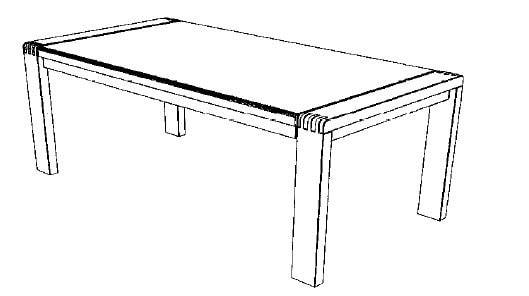 Decker-Möbelwerke - Vigo - Esstisch ohne Verlängerung - Länge 140 cm