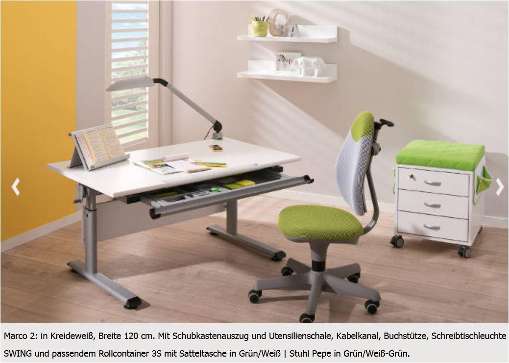 Paidi Schreibtisch Marco 2 105 105x70 cm Schoolworld