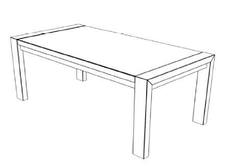 Decker-Möbelwerke - Volterra Plus - Esstisch ohne Verlängerung - Länge 220 cm