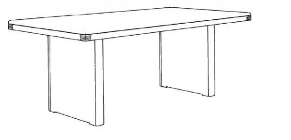 Decker-Möbelwerke - Volterra Plus - Wangentisch - Länge 140 cm