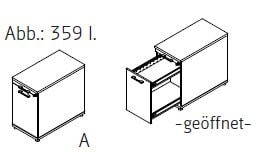 Röhr-Bush - Techno 019 - Anstell-/ Ordnercontainer links - Tiefe 80 cm