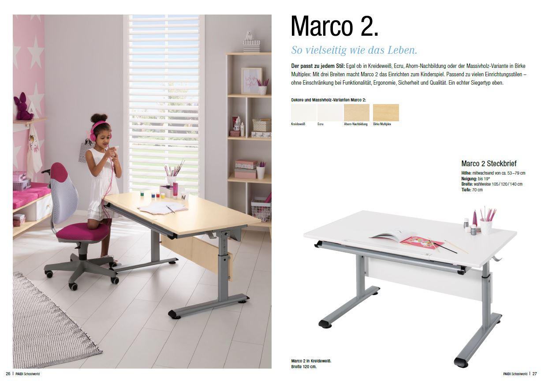 Paidi Schreibtisch Marco 2 120 120x70 cm Schoolworld