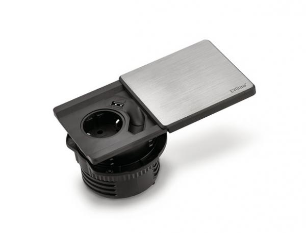 Naber Evoline Square-USB Steckdosenelement 8031152