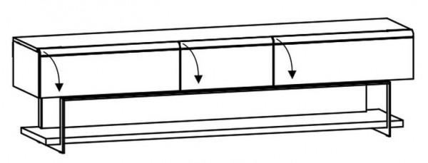 Voglauer V-Cube - Lowboard m. Fachgestell 256/69 - CLF25