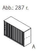 Röhr-Bush - Techno 019 - Aktenelement mit Jalousieschiebetür rechts