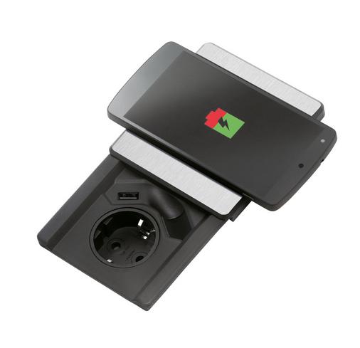 Naber Evoline Square-USB Qi Steckdosenelement 8031158
