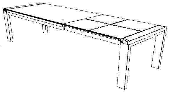 Decker-Möbelwerke - Vigo - Esstisch mit Verlängerung - Länge 220 cm