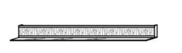 Schröder Kitzalm Pur - Wandboard 160 cm - Nr. 1611-NAT