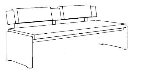 Decker-Möbelwerke - Volterra Plus - Sitzbank mit Rückenlehne - PG 5 Leder - Länge 130 cm