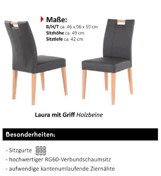 """Standard - Stuhlsystem """"Shake it"""" Laura mit Holzgriff - Holzbeine"""