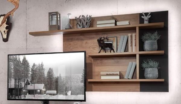 Schröder Kitzalm Alpin - TV-Wandpaneel 168 cm - Nr. 1555 - Akzent Satinglas