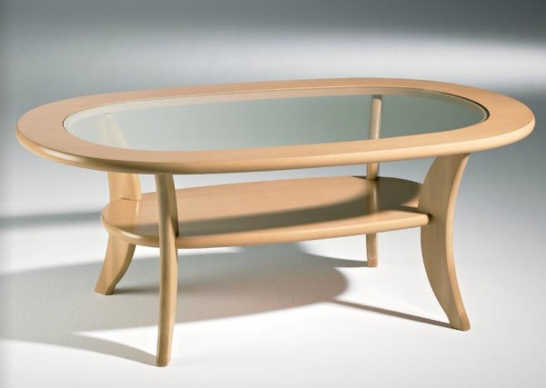 Hasse Holz-Couchtisch-Modell 1097 Buche