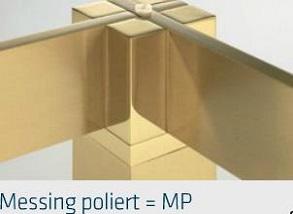 Messing-poliert