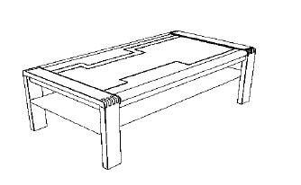 Decker-Möbelwerke - Vigo - Couchtisch - Breite 130 cm