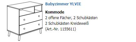 Paidi Kommode schmal 1155611 1155614 1155616 Ylvie