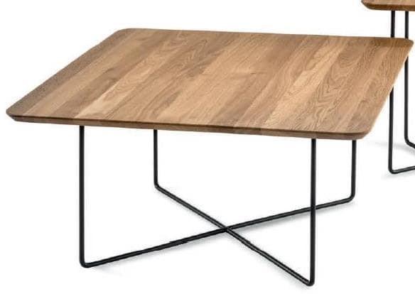 Hasse Couchtisch System Soft - versch. Ausführungen - Tischplatte quadratisch - 85 cm