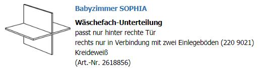 Paidi Wäschefacheinteilung Sophia 2618856