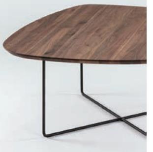 Hasse Couchtisch System Soft - versch. Ausführungen - Tischplatte Freiform-90 cm Plattengröße