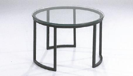 Hasse Glas-Couchtisch 8088 - Gestell schwarz-Klar-oder Rauchglas