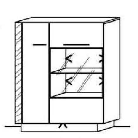 Schröder Kitzalm Alpin - Standelement - Nr. 4525 Blende Almschroppung
