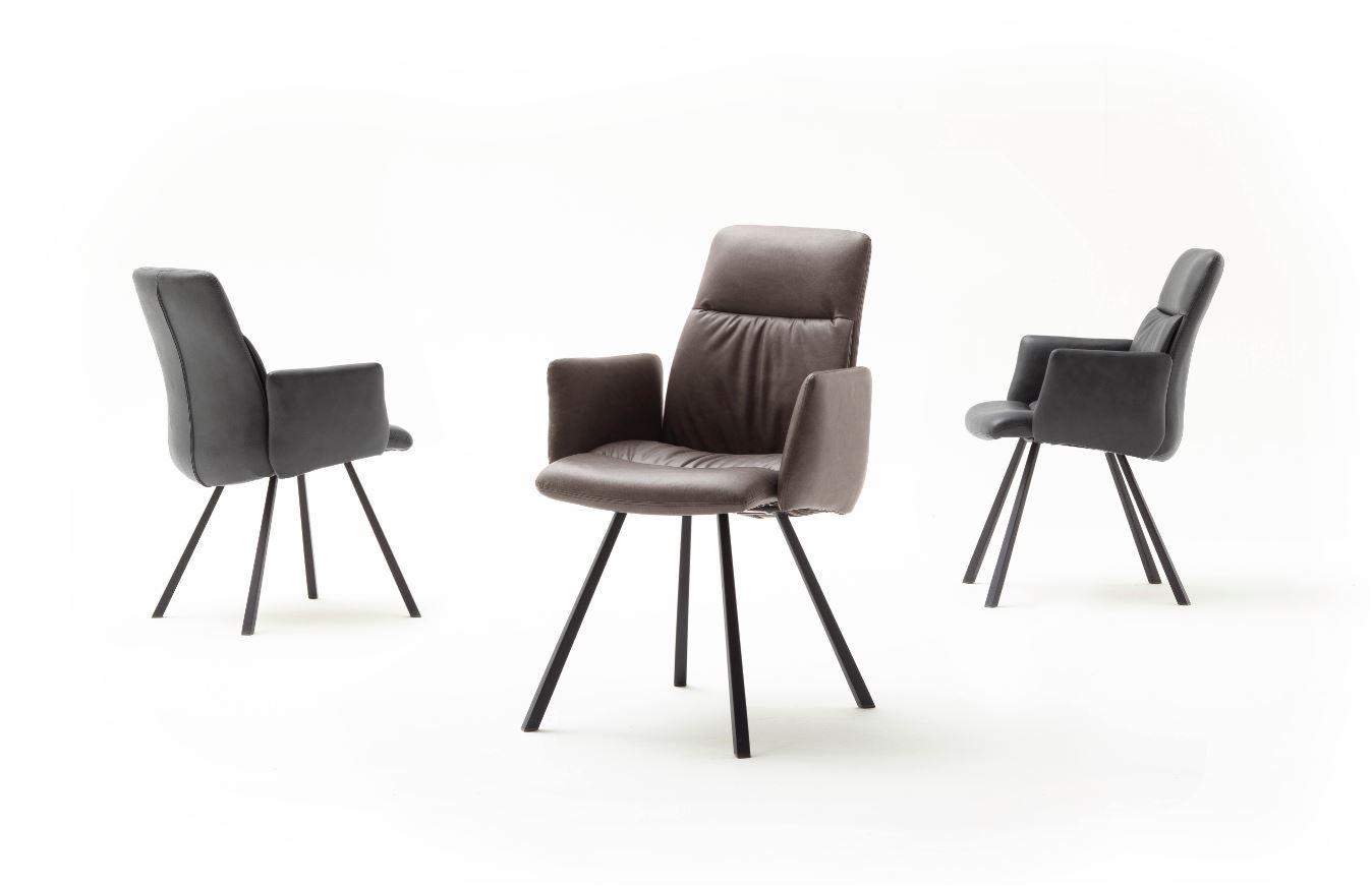 MCA 4 Fuß Stuhl mit Armlehnen Oxford ( 2-ER Set )