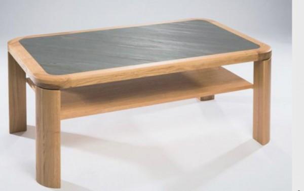 Hasse Couchtisch-Modell Porto - Tischplatte Schiefer grau