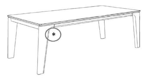 Decker-Möbelwerke - Ramos - Esstisch ohne Verlängerung - Länge 200 cm