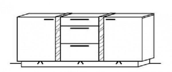 Schröder Kitzalm Alpin - Sideboard - Nr. 3723 Blende Almschroppung