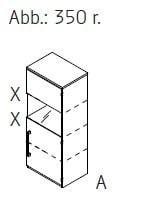 Röhr-Bush - Techno 019 - Aktenelement mit Klarglasausschnitt links