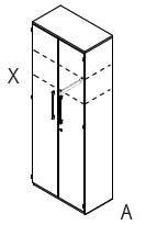 Röhr-Bush - Techno 019 - Garderobenelement - Kleiderschrank 2-türig