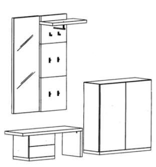 Bienenmühle - Cade - Garderoben Set 5