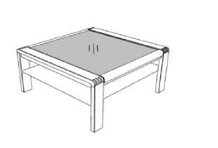 Decker-Möbelwerke - Vigo - Couchtisch mit Glasplatte - Breite 65 cm