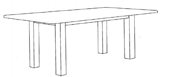 Decker-Möbelwerke - Volterra Plus - Esstisch - Länge 130 cm